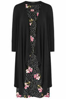 Bonmarche Women's Black 2 in 1 Dress With Shrug Size 18 New With Tags