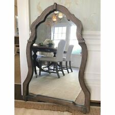 """Vanity Wall Mirror 43"""" Arch Wood Foyer Bath Mantel French Farmhouse Transitional"""