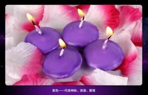 Unscented Candles 100pcs Romantic Water Floating Round Shape Wax Home Decoration