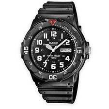 Para Hombre Casio mrw-200h-1bvef Militar Army Analógico Deportivo Resina Banda Reloj Negro