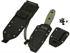 ESEE Model 4 Dark Earth Black Sheath Molle Back Clip Plate Paracord 4P-MB-DE NEW
