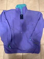 VTG 80s Patagonia Anorak Windbreaker Rain Jacket Mens XL Color Block Purple