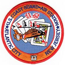 """COAST GUARD AIR STATION ATLANTIC CITY  NEW JERSEY  EMBROIDERED 4"""" PATCH"""