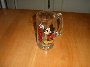 Disney Mickey Mouse solid glass mug tankard excellent condition