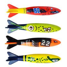 4Pcs/Set Games Kid Fun Toy Diving Torpedo Rocket Swimming Pool Underwater Summer