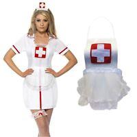 Mujer Adulto Sexy Enfermera Hospital Lencería Ropa Vestido de Noche Rol Disfraz