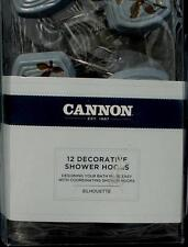 Cannon Decorative Shower Hooks - Silhouette - Set of 12 - BRAND NEW IN PACKAGE