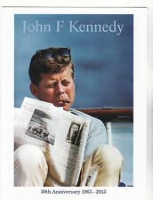 "*Postcard-""John F Kennedy"" ...Reading Newspaper (50th Anniversary 1963-2014)"