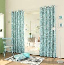 "Curtain Drapes Set Zebra Panel Pair Blue Teal Darkening Grommet 84""L x 52""W Dorm"