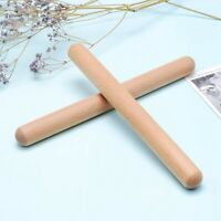 8 Pairs Classical Wood Claves Musical Percussion Instrument Natural Hardwoo I2Q3