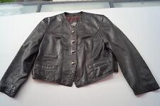 GERRY WEBER Damen weiches Leder Jacke Lederjacke Blazer Lammnappa Gr.40 braun