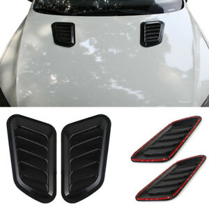 2x Universal Car SUV Decorate Air Flow Intake Scoop Turbo Bonnet Vent Cover Hood