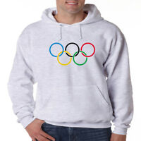 Olympic Rings Logo Hoodie Fleece Hooded Pullover Sweatshirt Winter Sports New