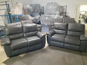 Charly pair of 2 seater sofas set. Ex ScS Stock