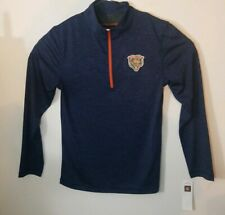 NEW Mens NFL Team Apparel Chicago Bears 1/4 Zip Football Pullover Size Small