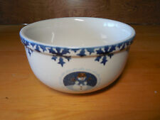 "Tienshan Folkcraft CAMEO SNOWMAN Set of 4 Soup Cereal Bowls 5 7/8"""