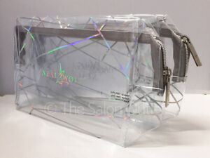2 x Neal & and Wolf Waterproof Transparent Travel Cosmetic Makeup Bags