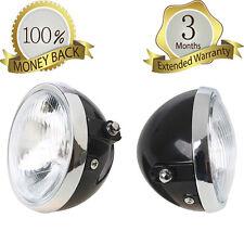 "6"" Black Motorcycle Metal Headlight Headlamp Round High Low Beam for Honda CG125"