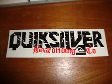 "QUICKSILVER 5"" Black VINYL STICKER DECAL SNOWBOARD SURF SKI  WAKEBOARD surfing"