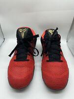 "Men's Nike Zoom Kobe Elite 11 XI Sz 9.5 Low ""Achilles Heel"" Red Black 822675-670"