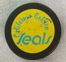 N.H.L. Oakland California Golden Seals Blue Teal Printed Puck