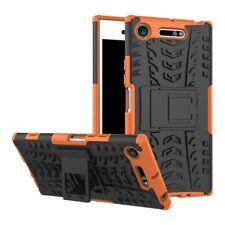 Etui Hybride 2 Pièces Extérieur Orange Housse Étui pour Sony Xperia XZ1 G8341