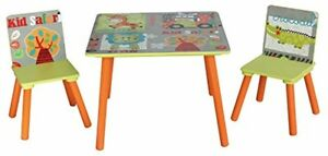 Kids Table 2 Chair Dining Room Set Toddler Comfortable Seat Nursery Furniture