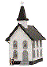Model Power N Scale Built Up Lighted Church #2553