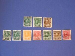 #131, 131i,134 used; 125, 125iv-130 used exc.126 MH  King George V coils    HCV