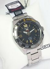 SEIKO 5 Automatic SPORTS 100m SRPB83K1 Cal 4R35 23 Jewels NEW Stainless Blk dial