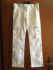 Pantalone donna bianco - Taglia 42. Made in Italy by EXCO