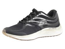 Skechers Women's Skyline Aglow Black/Gold Memory Foam Sneakers Shoes