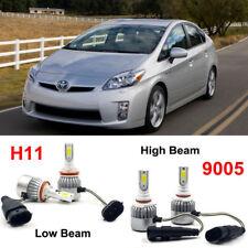 4X LED Headlight Kit H11 9005 HB3 Bulbs For Toyota Prius 2011-2010 Hi/Low Beam