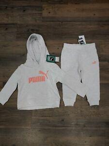 Puma Baby Toddler Girls Fleece Sweatshirt Tracksuit Hoodie Pants Set 18M NWT