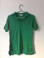 Vintage LL Bean Original Mens Green Polo Shirt Embroidered Boot Logo USA SMALL