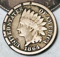 1864 Indian Head Cent Penny 1C CN High Grade Details Civil War US Coin CC4775