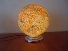 ancien globe terrestre lumineux verre mappemonde art déco forest girard barrere