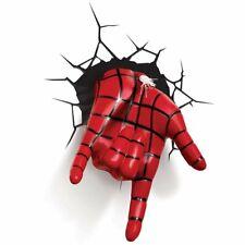 Marvel SPIDERMAN Spidey HAND 3D FX LIGHT Wall DECO Night Light + Sticker