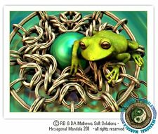 © ART - green tree FROG chainmaille Original Artist Print by Di