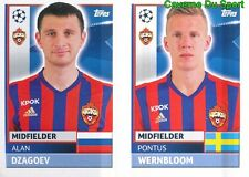 CSK12-13 WERNBLOOM ALAN DZAGOEV CSKA MOSKVA STICKER CHAMPIONS LEAGUE 2017 TOPPS
