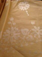 Vintage Set of Gold Coloured Table Cloth/Four Napkins