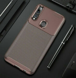 For Huawei Y9 Prime 2019 Shockproof Carbon Fiber Silicone Slim Matte Case Cover