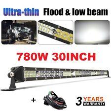 "Dual-Row 30inch 1800W LED Light Bar Spot Flood Offroad Truck Offroad VS 32""34""36"