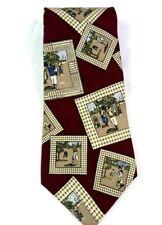 Pierre Cardin Brand Necktie   Golf Themed