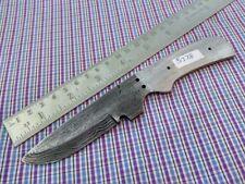 "7"" custom made hunting Damascus steel knife blank blade random 5378 a"