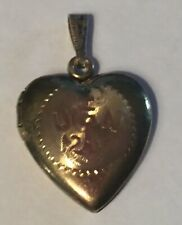 Locket Pendant No Mono 1� Pendant Vintage Usn Navy Heart Sweatheart Gold Filled