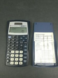 Texas Instruments TI-30XIIS Solar Scientific Calculator Blue - Free Ship in USA