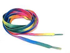 "120 cm 47"" Rainbow Color Canvas Athletic Shoelace Shoe Laces Free Shipping"