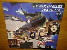 The Moody Blues, Caught Live +5,,, 1977, 2X's VINYL LP (VG+) recorded live 1969