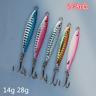 5pcs 14/28g Metal Micro Knife Jigs Luminous Butterfly Fishing Lures Snapper Bait